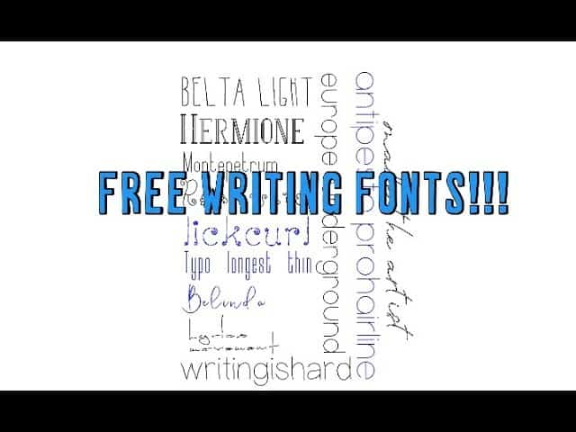 Free writing fonts using your Cricut and design space tips