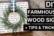 DIY Farmhouse Wood Sign + Cricut Tips & Tricks |
