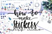 How I Make My Stickers Using Cricut and Procreate