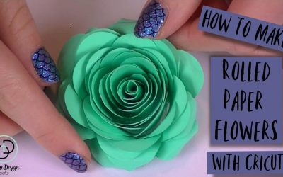 How to Make Rolled Paper Flowers with Cricut