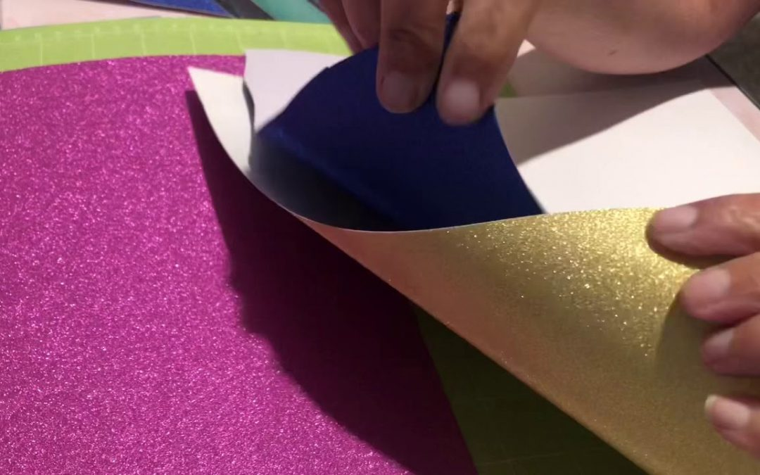 Dollar tree glitter vinyl review for use with the cricut