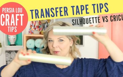 How to Use Transfer Tape with Vinyl! Silhouette vs