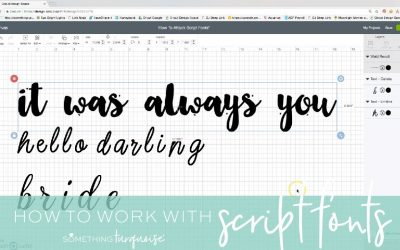How To Work With Script Style Fonts In Cricut Design